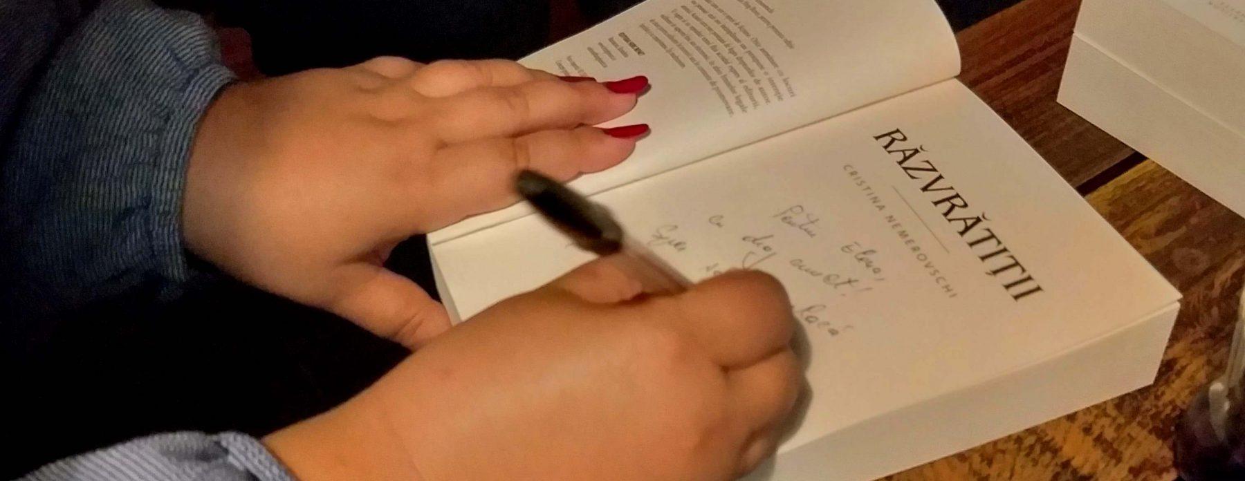 Cristina Nemerovschi atinge subiecte sensibile în noua sa carte. Cum poate o poveste tristă să aibă un impact pozitiv